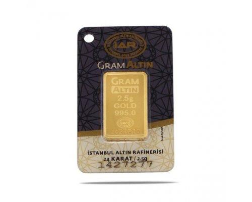 2,5 gr 24 Ayar Altın
