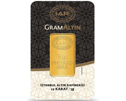 5 gr 24 Ayar Gram Külçe Altın