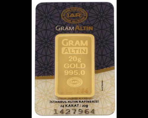 20 gr 24 Ayar Gram Külçe Altın