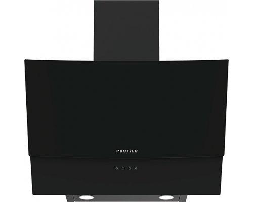 Profilo Dve6G560 Siyah Duvar Tipi Eğimli Cam Davlumbaz